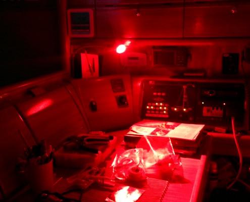 Rött ljus är bättre för mörkerseendet