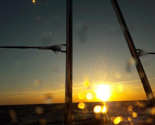 Utsikt genom från mina fönster - Ute på stora havet 2018